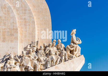 Monument to the Discoveries, Padrao dos Descobrimentos, Belem, Lisbon, Portugal - Stock Photo