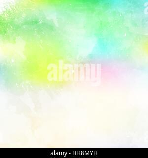 Spring,Watercolor painted light background with white space for text. - Stock Photo