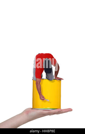 art, artistic, can, artist, painter, backdrop, background, bright, hand, - Stock Photo