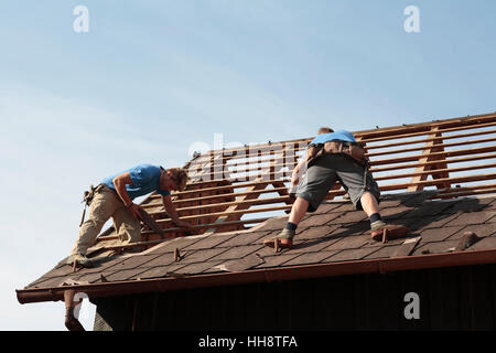 Working Roofers - Stock Photo