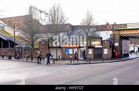 White Hart Lane Overground Railway Station in North London UK - Stock Photo