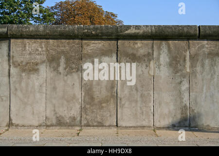blue, god, city, town, concrete, wall, berlin, germany, german federal - Stock Photo