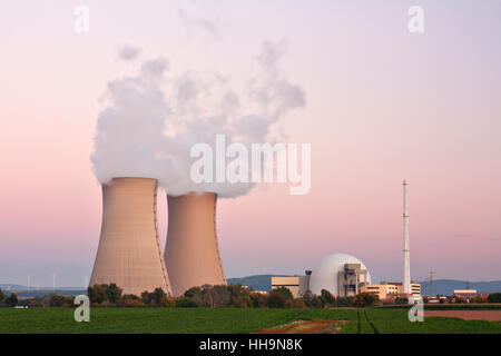 power station, energy, power, electricity, electric power, nuclear power - Stock Photo