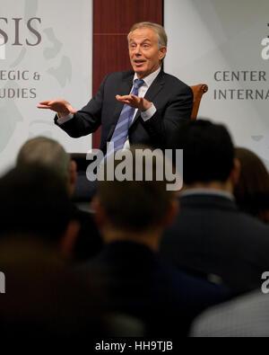 Former UK Prime Minister Tony Blair - Stock Photo