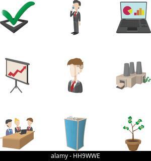 Marketing icons set, cartoon style - Stock Photo