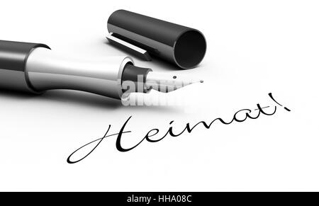 home! - pen concept - Stock Photo