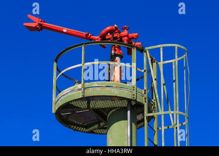 blue, extinguisher, danger, object, services, industry, industrial, green, - Stock Photo