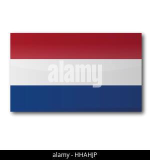 flag netherlands - Stock Photo