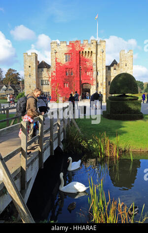 Henry VIII's 2nd wife, Anne Boleyn's childhood hone, Hever Castle, in the Kent countryside, in England, UK - Stock Photo