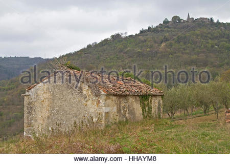 stone hut in istria - Stock Photo