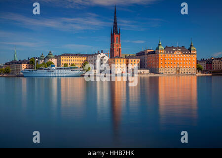 Stockholm. Cityscape image of Stockholm, Sweden during summer morning. - Stock Photo