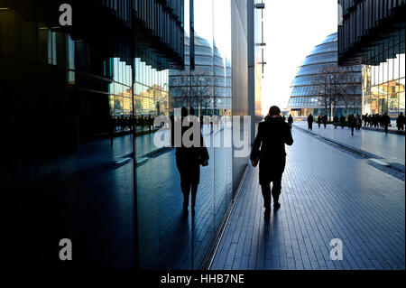 office buildings in the city of london, england - Stock Photo