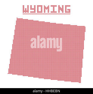 US State On The US Map Wyoming Stock Vector Art Illustration - Us dot map