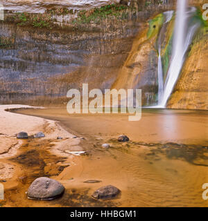 lower calf creek falls near escalante, utah - Stock Photo