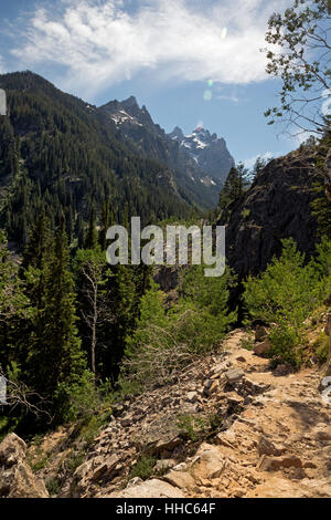 WY02059-00...WYOMING  - Cascade Canyon from the Inspiration Point Trail in Grand Teton National Park. - Stock Photo