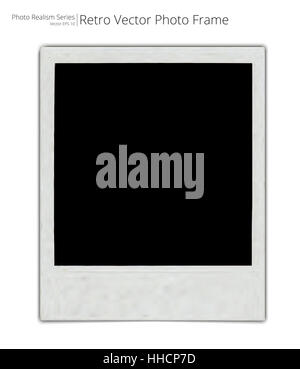 Photo Realistic Vector of Classic retro Photo Frame. Blank for Copy Space. - Stock Photo