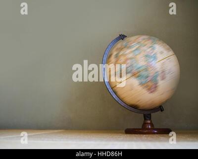 Spinning globe model - Stock Photo