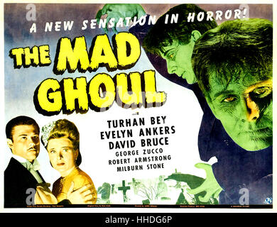 THE MAD GHOUL 1943 UNiversal Pictures horror film with Evelyn Ankers, Turhan Bey and David Bruce - Stock Photo