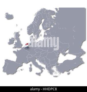 europe map netherlands - Stock Photo