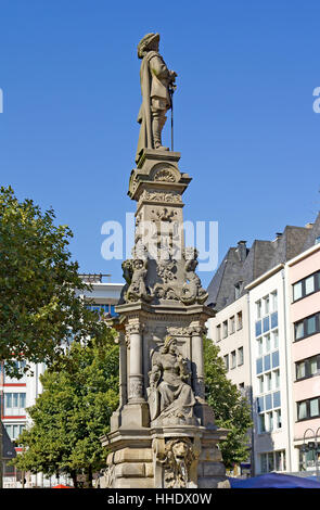 monument, cologne, old town, sightseeing, fountain, rhineland, house, building, - Stock Photo