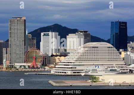 Skyline, Kobe City, Honshu Island, Japan - Stock Photo