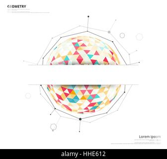 Planet geometric star on space structure of solar system vector geometric circle on white background with space to use text or headline blank template abstract ccuart Gallery