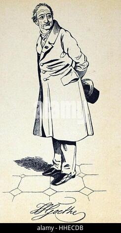 Johann Wolfgang von Goethe (1749 – 22 March 1832), German writer and statesman - Stock Photo