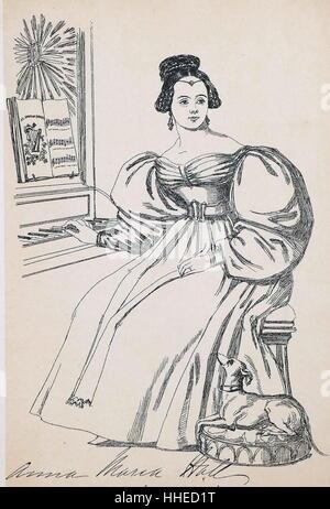 Anna Maria HALL {1800-1881), Irish-born English novelist. - Stock Photo