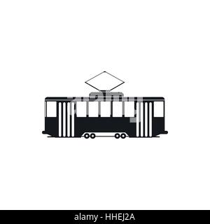 Tram icon in simple style - Stock Photo