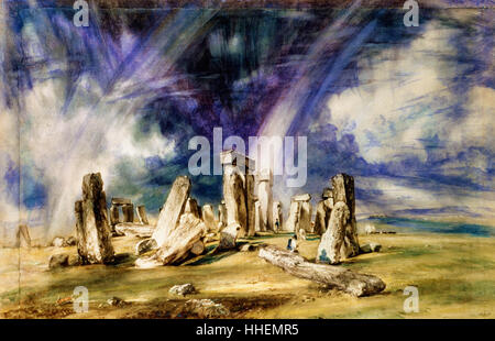 John Constable - Stonehenge - - Stock Photo