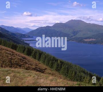 Summer view of Loch Lomond and Ben Lomond, Dumbartonshire - Stock Photo
