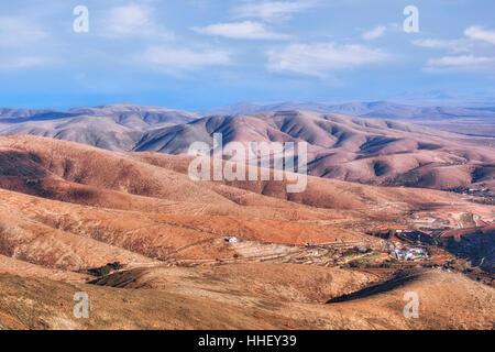 Parque Rural de Betancuria, Betancuria, Fuerteventura, Canary Islands, Spain - Stock Photo