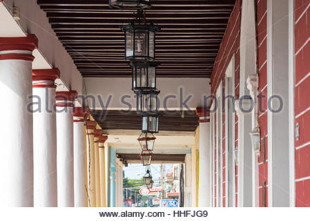 Architectural detail in 'La Periquera' or the old house of old residence of Spanish Don Francisco Rondán. Cuba colonial - Stock Photo