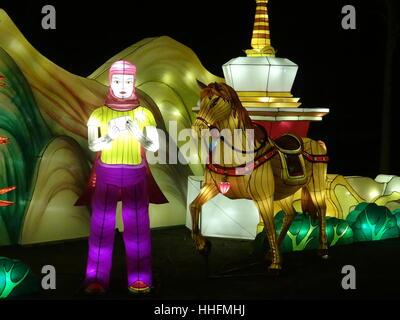 London, UK. 18th Jan, 2017. Magical Lantern Festival opens in London, UK Credit: Nastia M/Alamy Live News - Stock Photo