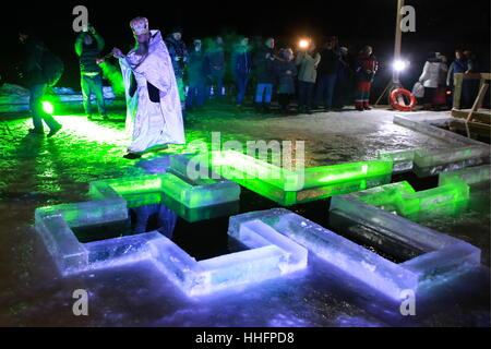 ice cross in winter epiphany orthodox holiday on a place. Black Bedroom Furniture Sets. Home Design Ideas