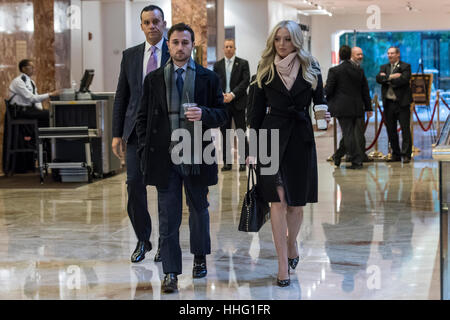 New York, USA. 19th Jan, 2017. Tiffany Trump leaves Trump Tower in New York, NY, USA on January 19, 2017. Credit: - Stock Photo