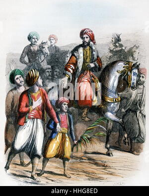 Muhammad Ali Pasha or Mehmet Ali; 1769 – 1849 proclaimed as Viceroy of Egypt 1805. - Stock Photo