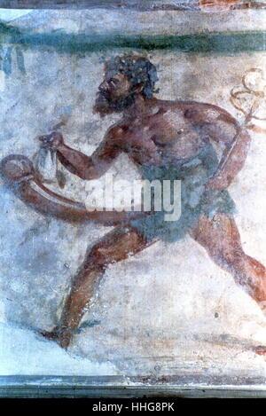 Pompeii was an ancient Roman town-city near modern Naples - Stock Photo