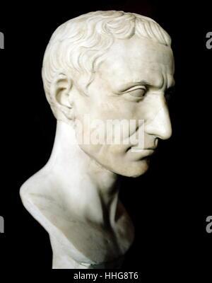 Gaius Julius Caesar (100 BC – 15 March 44 BC), known as Julius Caesar, was a Roman politician - Stock Photo