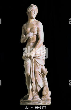 2nd century statue of Venus, Roman goddess of love and beauty, displayed at the Bardo museum in Tunis - Stock Photo