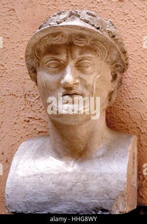 Bust of Pyrrhus (Pyrrhos; 319/318–272 BC) was a Greek genera - Stock Photo