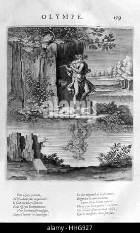 Olympus; Home of the gods in Greek mythology. Plate from Les Images Ou Tableaux De Platte Peinture Des Deux Philostrates - Stock Photo