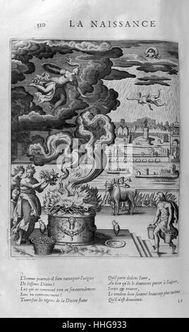 The birth of a divinity. Plate from Les Images Ou Tableaux De Platte Peinture Des Deux Philostrates Sophistes Grecs, - Stock Photo