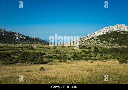 Hiking In Paklenica Velebit Mountains In Croatia - Stock Photo