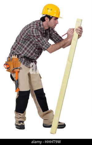 beam, blank, european, caucasian, belt, carpenter, carpentry, backdrop, - Stock Photo