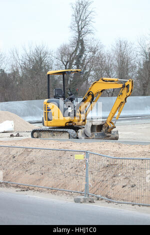barrier, claw, caterpillar, crawler, bulldozer, arm, cab, construction, modern, - Stock Photo