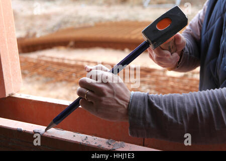 blue, adult, adults, chisel, carpenter, carpentry, activity, backdrop, - Stock Photo