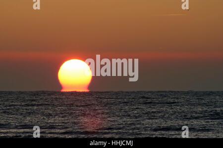 Dawn at Worthing Beach - Stock Photo