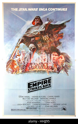 The Empire Strikes Back film Poster 1980 Episode 5 The Star Wars Saga continues - Stock Photo