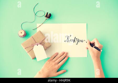 Thank You Gratitude Marci Gracias Danke Concept - Stock Photo